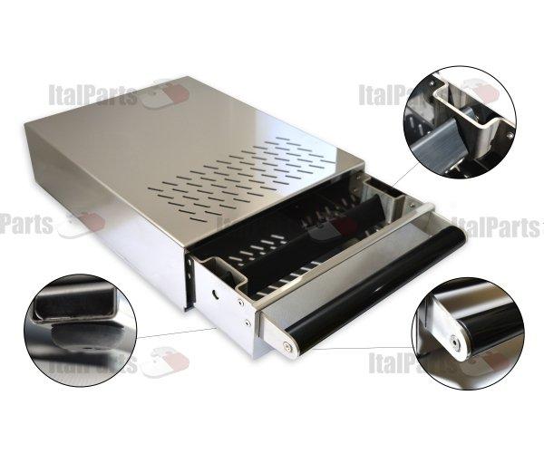 ITALPARTS Knock Box with Black Handle, 280 x 370 x 100 mm