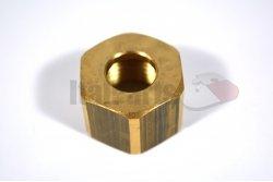 BRASS NUT 1/2 FOR 12MM CAP nut height 18 mm - nut 24 mm