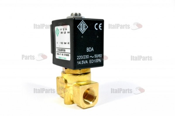 ODE SOLENOID VALVE 2-WAY 220/230V 50/60Hz ø 1/4