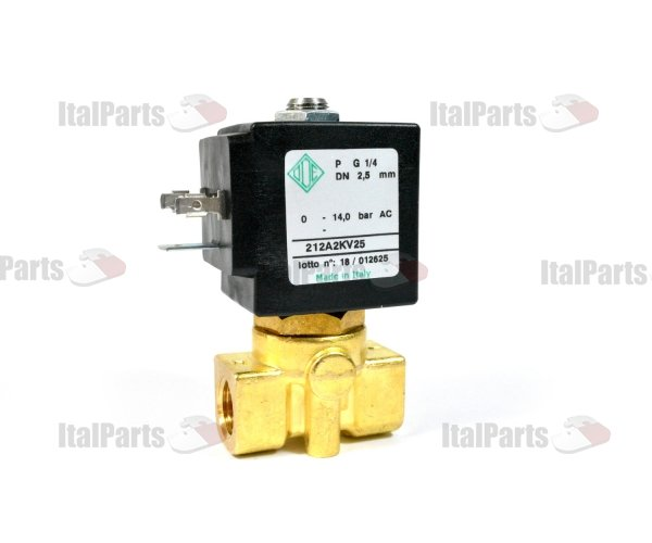 "ODE SOLENOID VALVE 2-WAY 220/230V 50/60Hz ø 1/4""FF ø 2,5 mm DN"