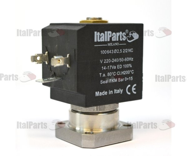 ITALPARTS SOLENOID VALVE INOX 2 WAYS 230V 50/60 HZ