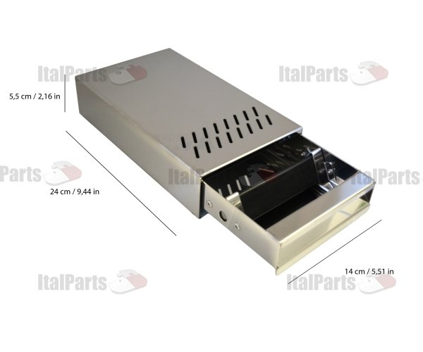 ITALPARTS - Stainless Steel Knock Box, 140 x 240 x 55 mm