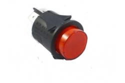ROUND RED ON-OFF SWITCH dia 25mm
